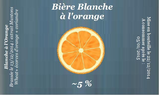 Blanche à l'orange